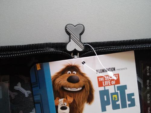 Piórnik pusty bez wyposażenia 2 klapki Pets pies